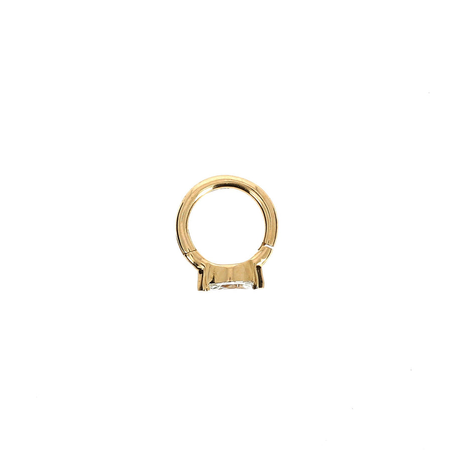 6.5mm Rose Gold Hoop Marquise 4.5x2mm