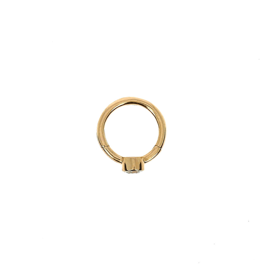 8mm Rose Gold Hoop Diamond 2.5mm