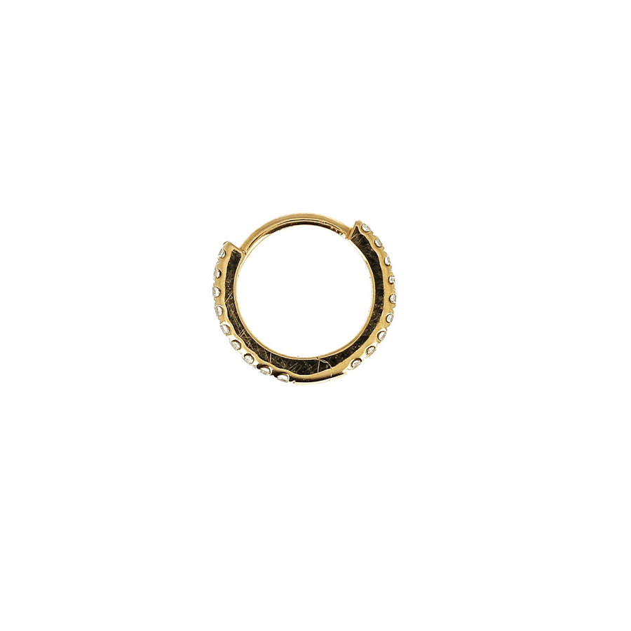 8mm Full Paved Hoop Rose Gold
