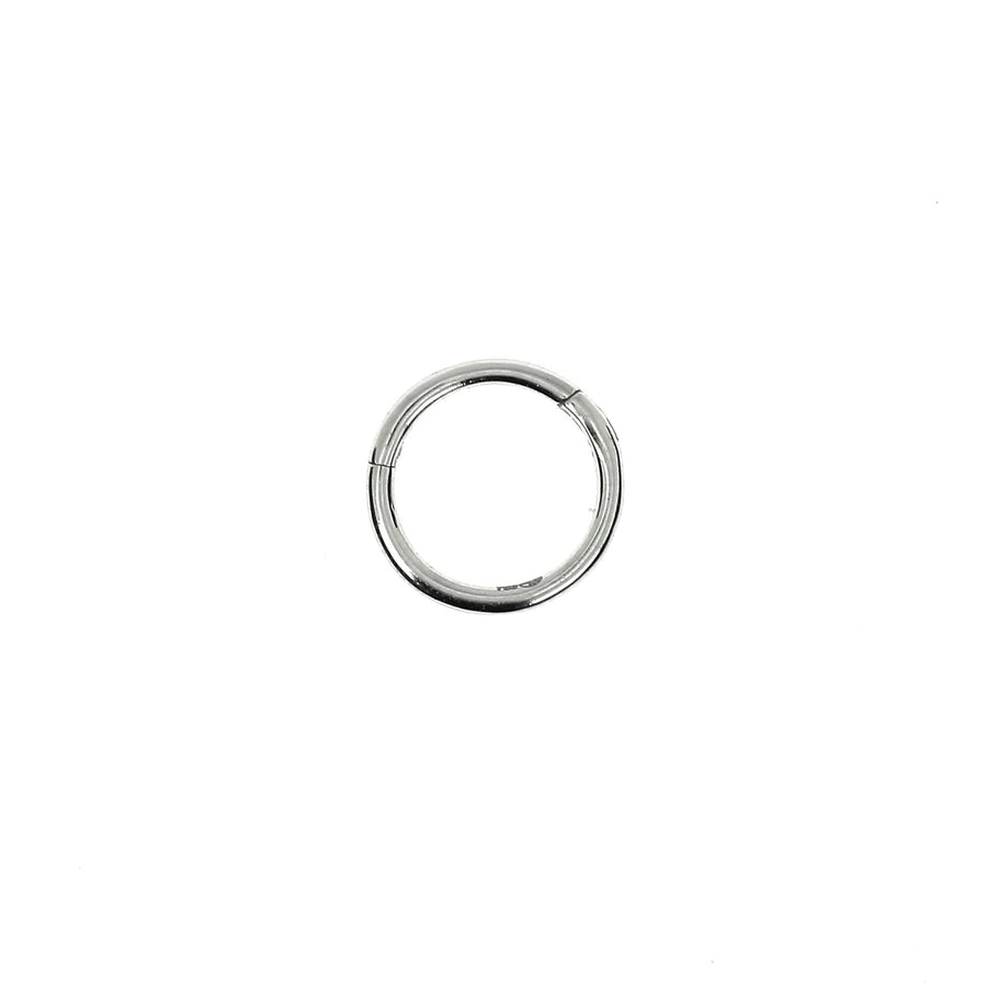 8mm White Gold Hoop