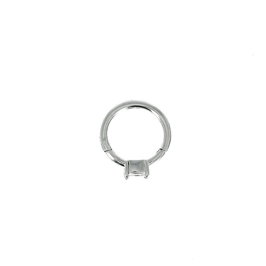 8mm White Gold Hoop Princess 3x3mm