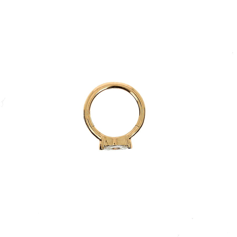 8mm Rose Gold Hoop Marquise 4.5x2mm