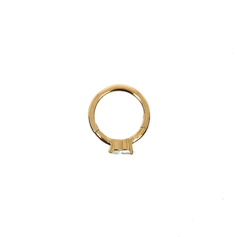 8mm Rose Gold Hoop Pear 3.5x2.5mm