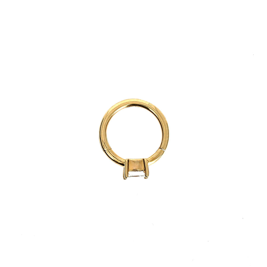 8mm Rose Gold Hoop Princess 3x3mm