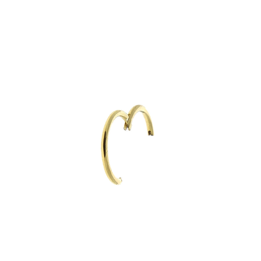 Yellow Gold 9.5mm Hoop