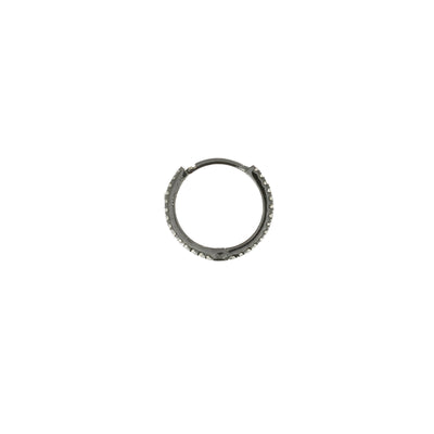Diamond Hoop 14mm Black Gold
