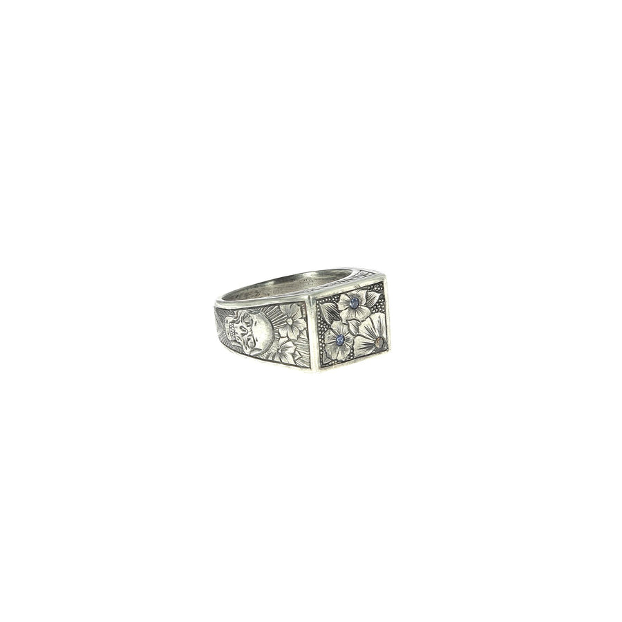 Diamond and Sapphire Signet ring