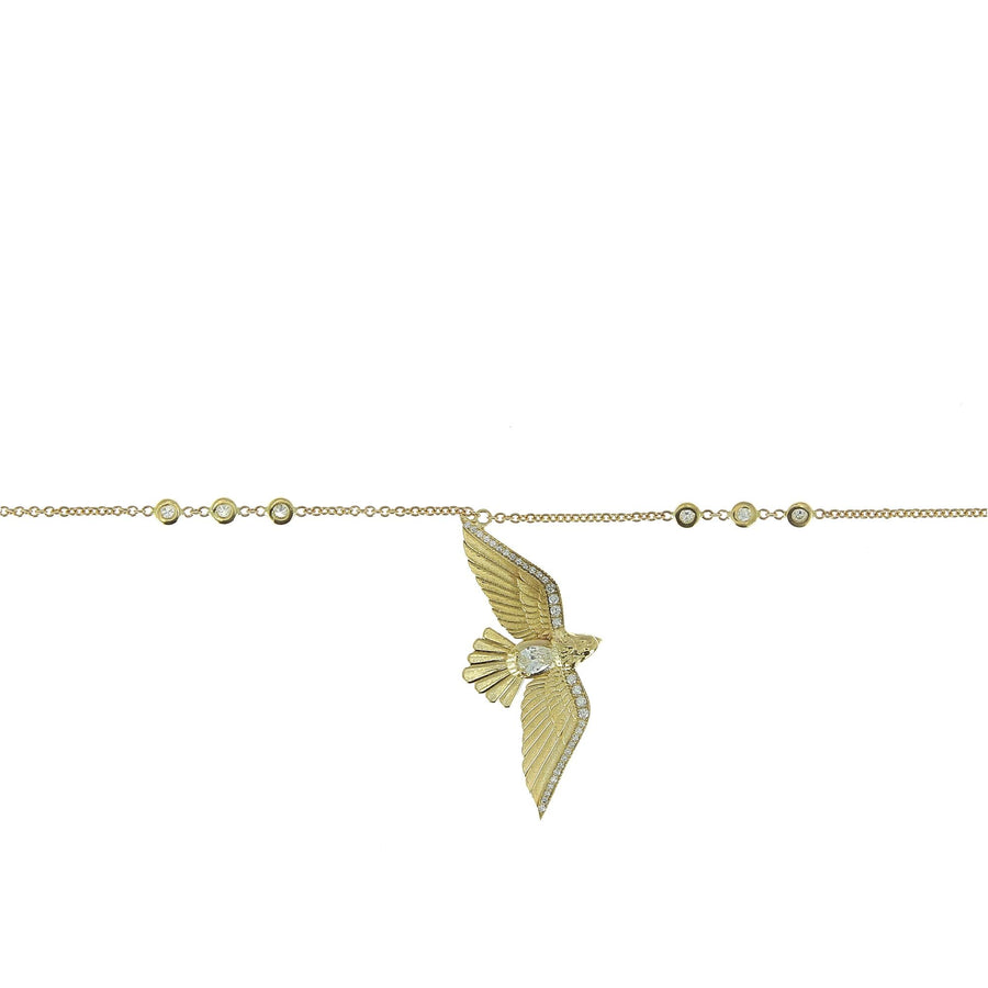 Diamond Flying Bird Necklace