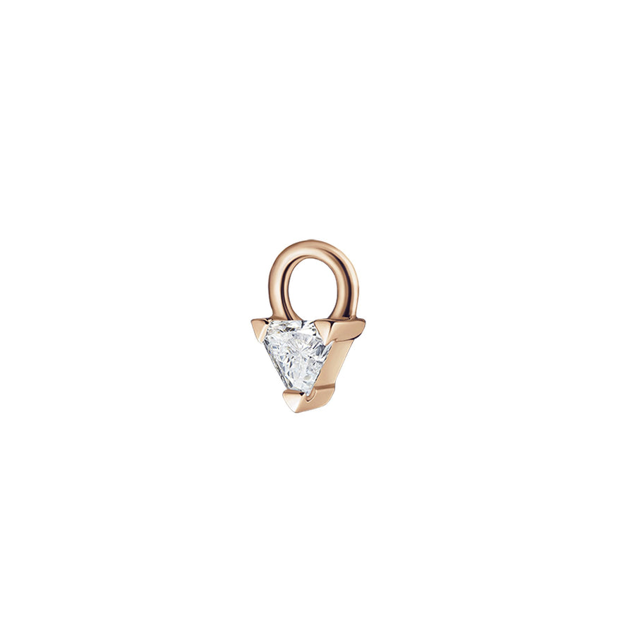 Diamond Trillion Charm Rose Gold