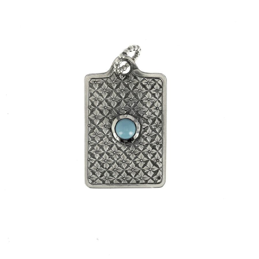 Pattern Turquoise Dog Tag
