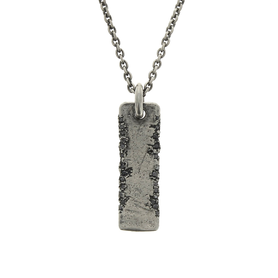 Edge Stones Plate Necklace
