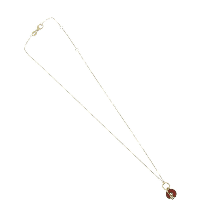 Red Round And Star Necklace