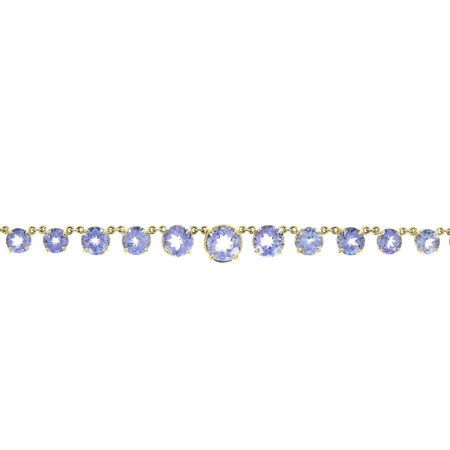 Graduated Light Purple Round Topaz Necklace