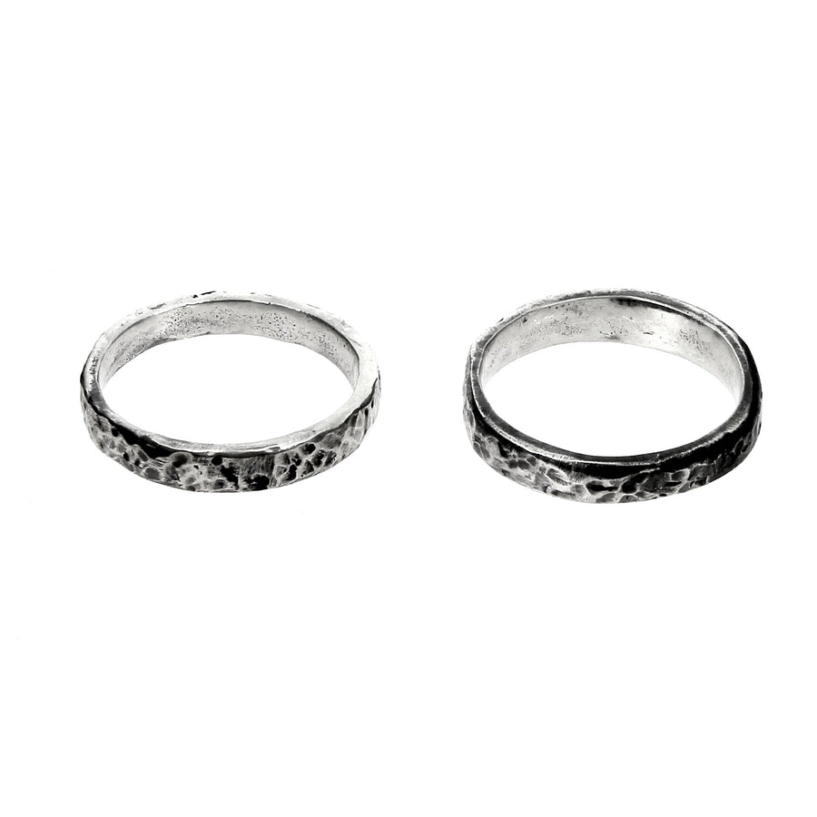 Hammered Pair Rings
