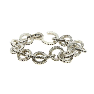 Buddhism Spell Single Link Bracelet
