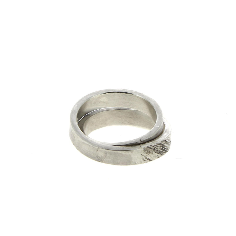 Textured Ring Double Banded V4