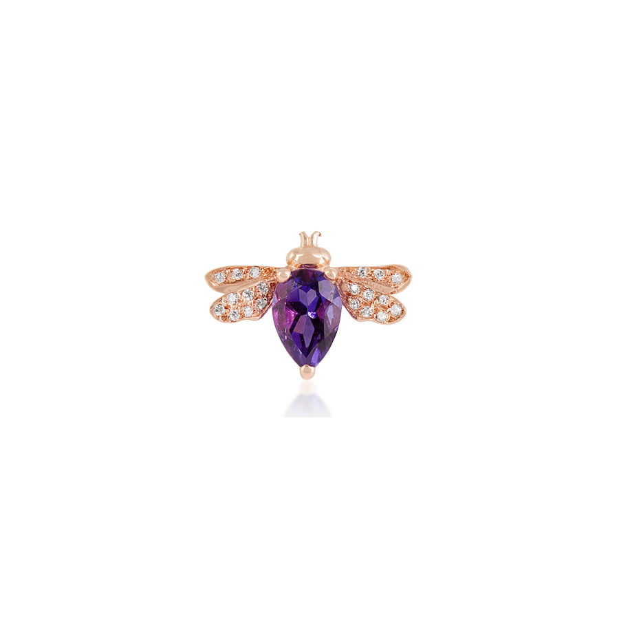 HONEY BEE EARRING Amethyst