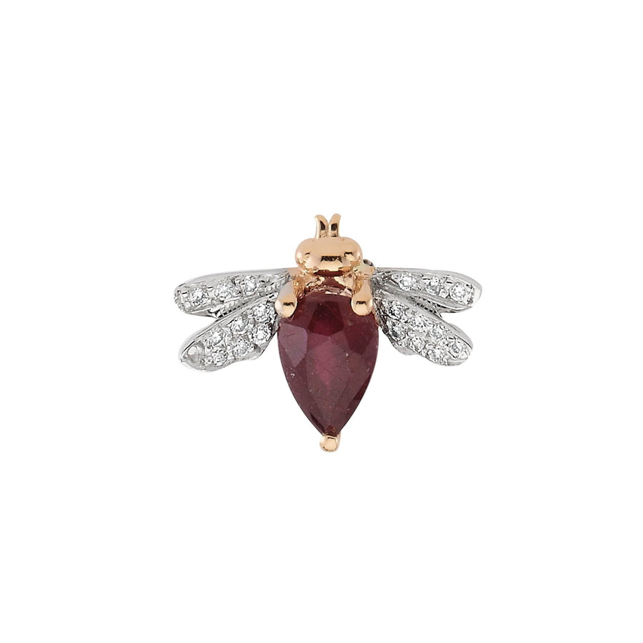 HONEY BEE EARRING Ruby