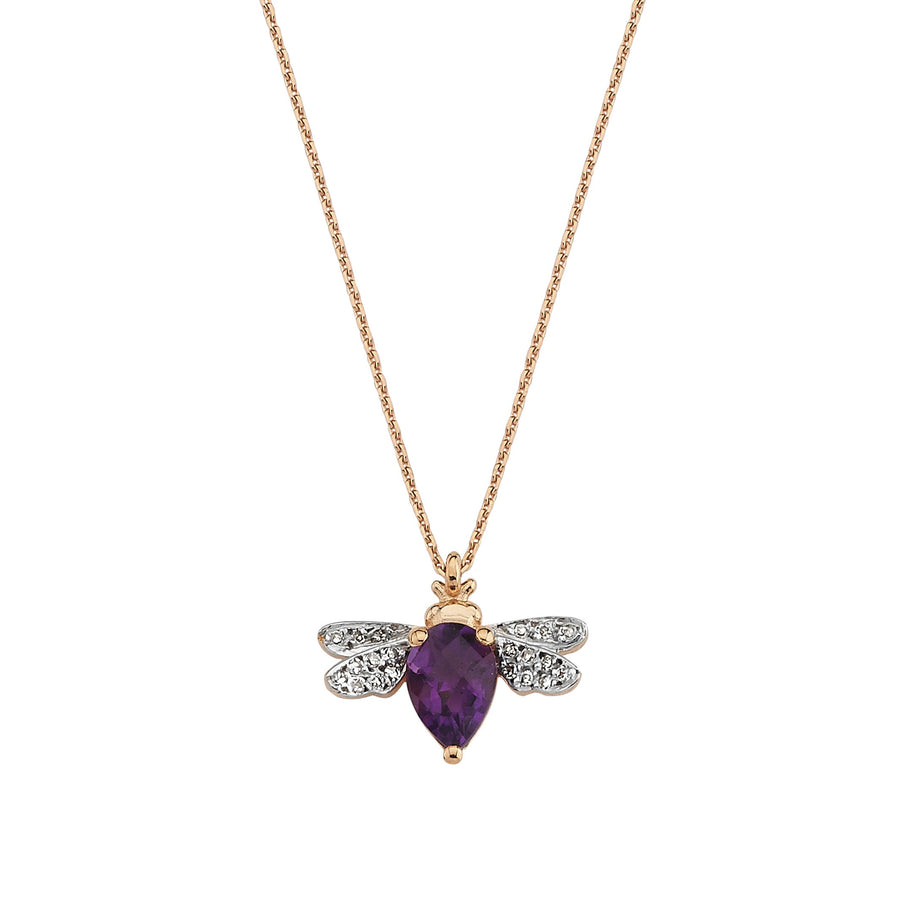 HONEY BEE NECKLACE Amethyst