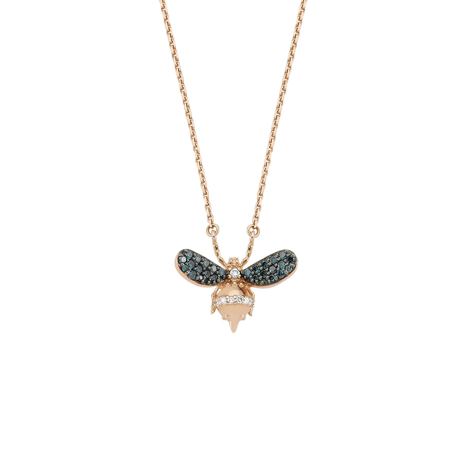 HONEY BEE NECKLACE Blue Diamond