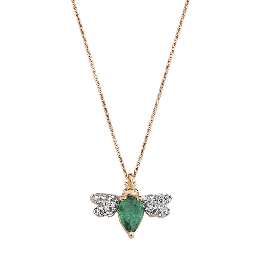 HONEY BEE NECKLACE Emerald