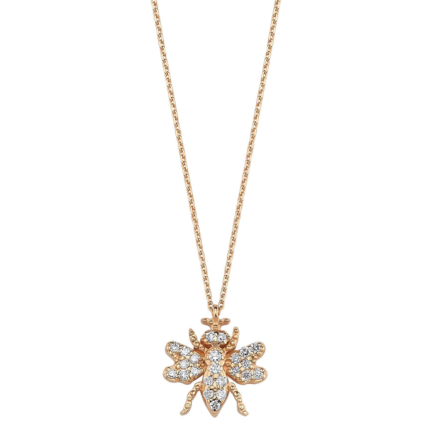 HONEY BEE NECKLACE White Diamond