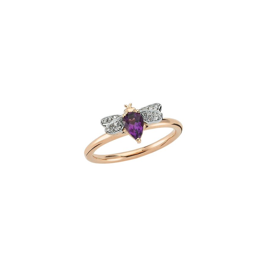 HONEY BEE RING Amethyst