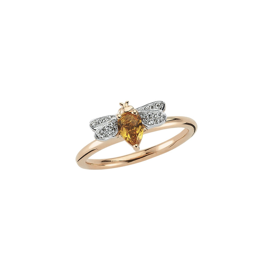 HONEY BEE RING Citrine