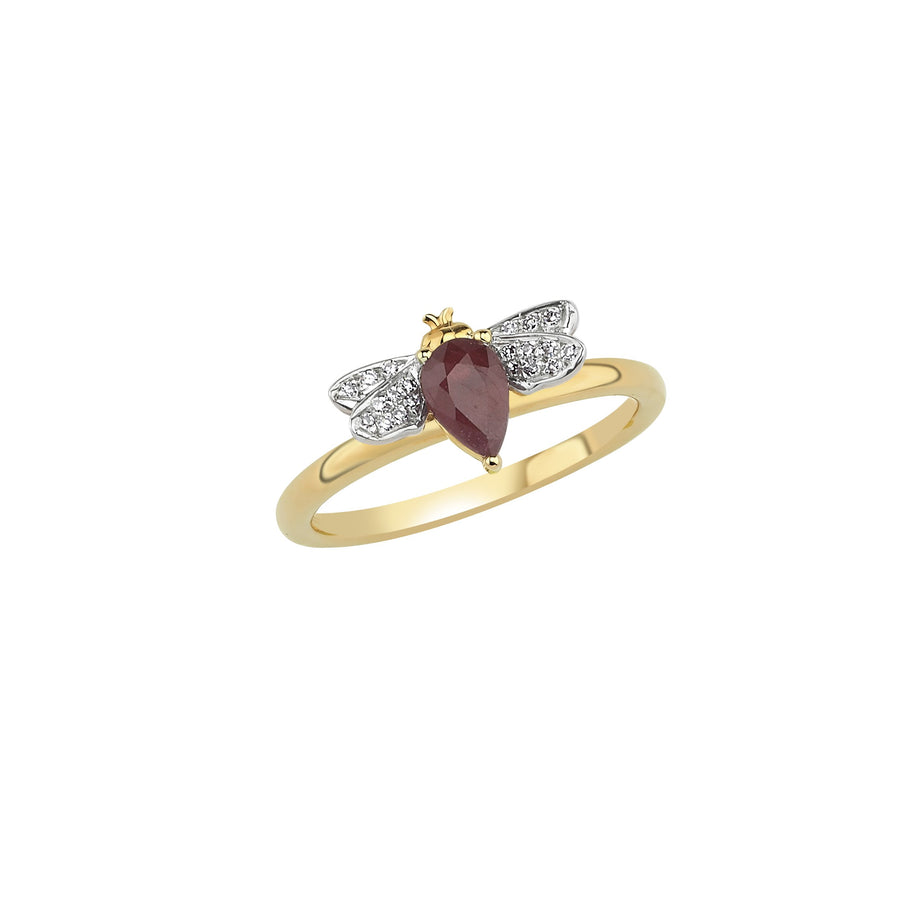 HONEY BEE RING Ruby