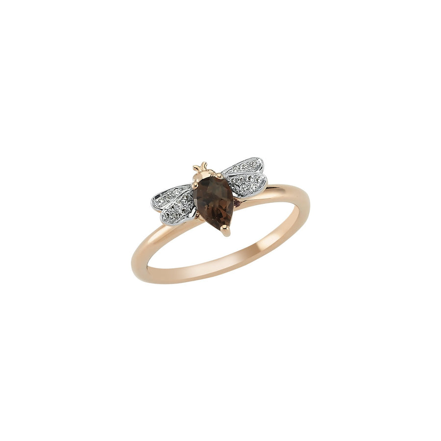 HONEY BEE RING Smoky Quartz