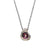 Icy Grey Diamonds and Rubies Necklace