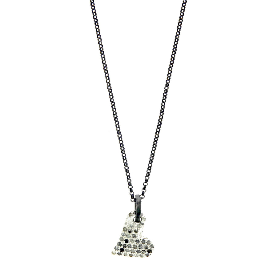 Icy Grey Diamonds Necklace