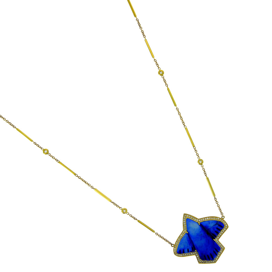 Lapis thunderbird necklace