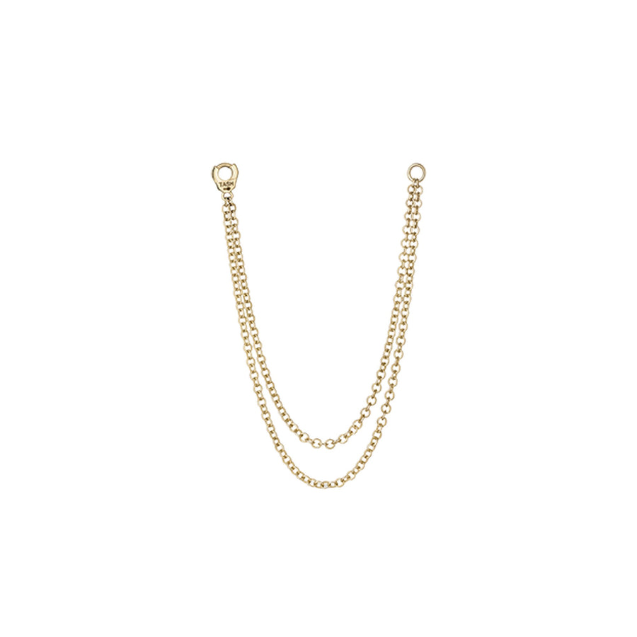 Long Double Chain Yellow Gold