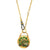 Lucchetto necklace with green enamel