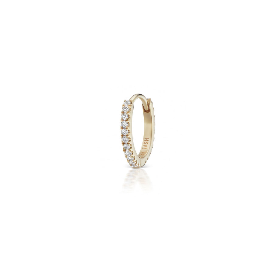 8 mm White Diamond Eternity Yellow Gold Ring
