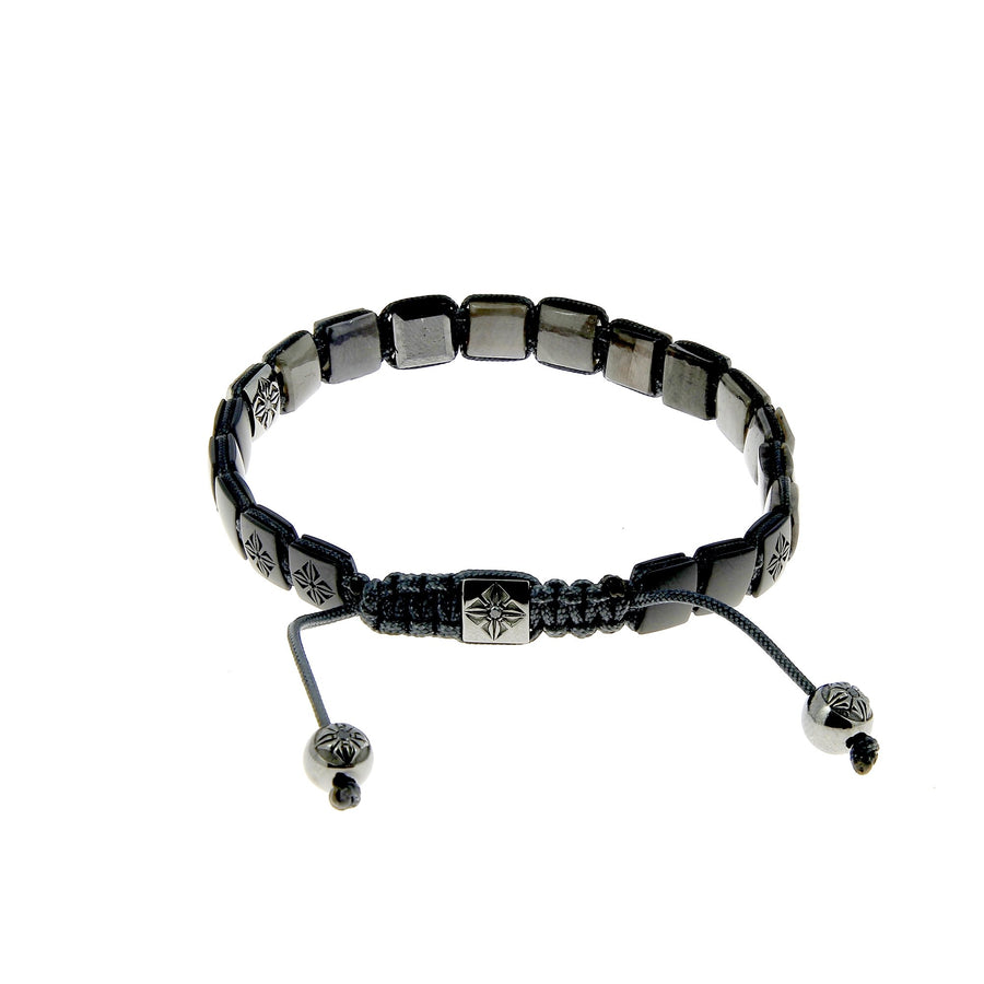 Matte Black Ceramic and Grey Sapphire Bracelet
