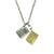 Mini Tags Necklace with Gold