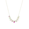 Multi Tourmaline Bezel Necklace