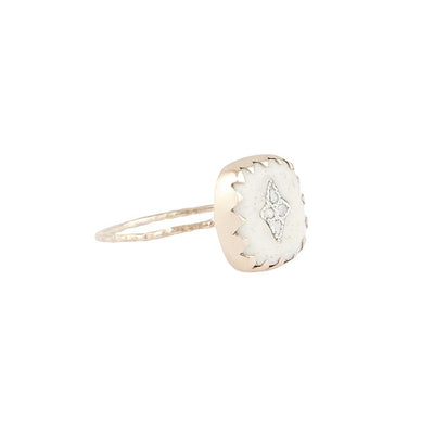 White Pierrot Ring