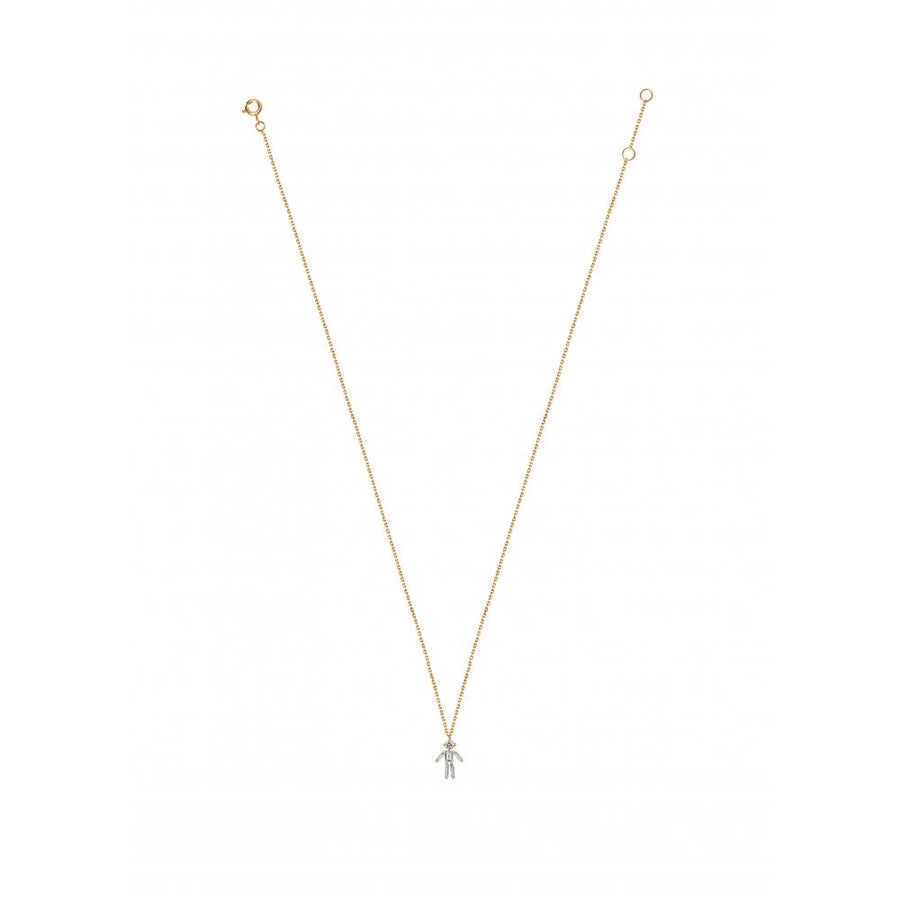 Pendant Necklace-Boy-Yellow Gold
