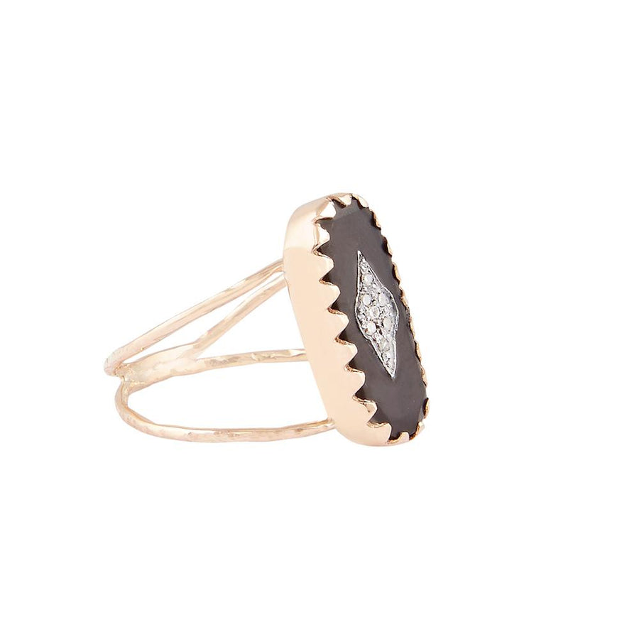 Mahe Black Horn Ring