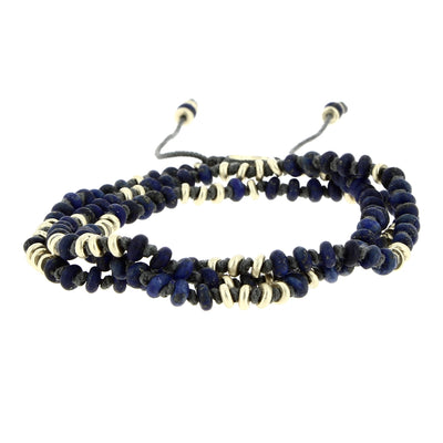 Gold and Lapis Lazuli Multi-Spin Bracelet