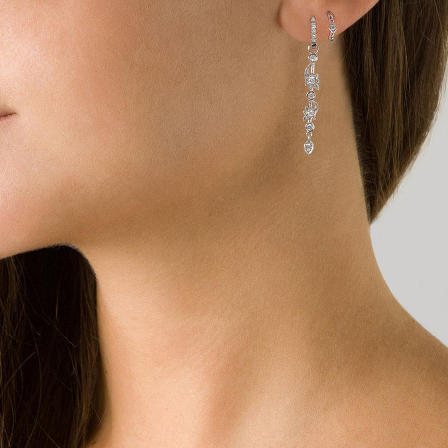 Indiana White Gold Earring