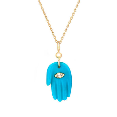 Turquoise Hand Protecting Necklace