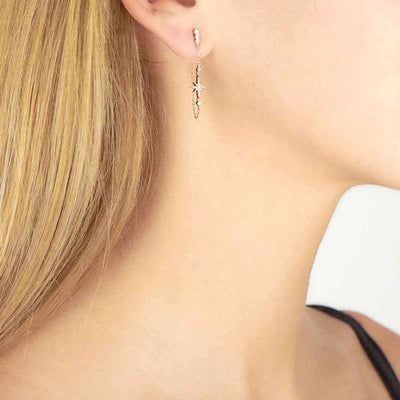 North Star Chain Earring