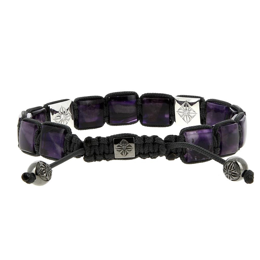 10mm Purple Black Diamonds Bracelet