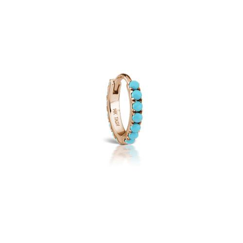 8 mm  Eternity Turquoise Rose Gold Ring