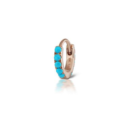 6.5 mm Turquoise Eternity Rose Gold Ring