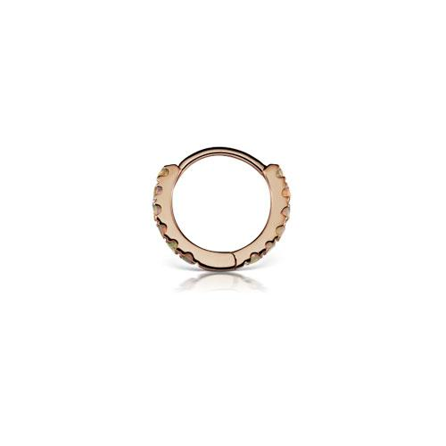 8 mm Opal Eternity Rose Gold Ring